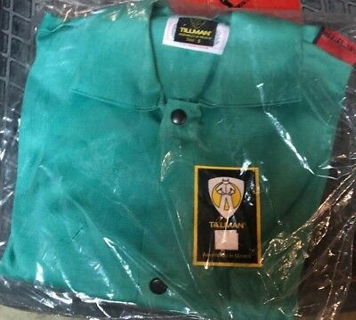 Tillman 6230 30 9 Oz. Size Small Green Flame Resistant Welding Jacket