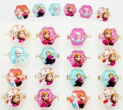 12 pcs set Crystal Acrylic Frozen Ring Party Favors party Supplies -