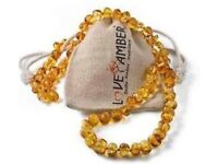 Real Amber baby teething necklace