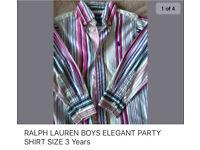 RALPH LAUREN ORIGINAL BOYS SHIRT SIZE 3 years