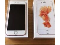 Apple iPhone 6s 32 Gb rose gold unlocked boxed mint with apple care