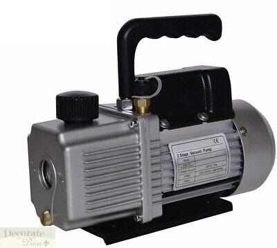 Vacuum Pump Air Conditioner Refrigeration 9.0 Cfm 2 Stage 1 Hp - Hvacr 110v New