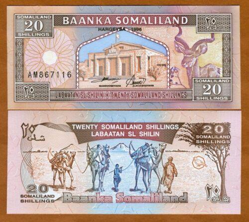 Somaliland, 20 shillings, 1996, P-3, UNC