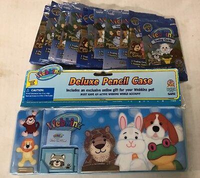 Webkinz Deluxe Pencil Case  Online Code And 10 Bonus Trading Card Packs School