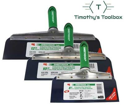 Usg Sheetrock Drywall Offset Taping Knife Combo - 8 10 12 Blue Steel