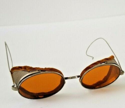 Antique Willson Amber Lens Side Shield Sunglasses