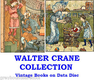 Walter-Crane-Collection-Vintage-Childrens-Colour-Illustrated-Books-on-Data-Disc