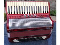 Piano Accordion. Frisco. Compact, Light, Full-Size, Italian Made.