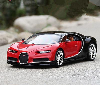 Bburago 1 18 Bugatti Chiron Diecast Alloy Model Roadster Car New In Box Red