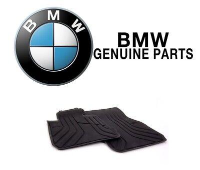 For BMW F30 320i 328d Sedan Set of 2 Front Black All Weather Floor Mats Genuine