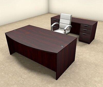 5pc Fan Front Modern Executive Office Desk Set Ot-sul-d3