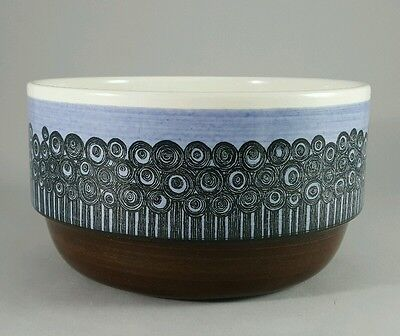 RARE MCM Rorstrand Sweden Amanda Large Ceramic Mid Century Modern Serving Bowl