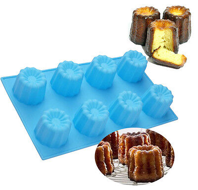 Muffin Jelly Canneles Silicone Mold Cake Baking Cup Pudding Silicone Cannele (Cannele Silicone Mold)