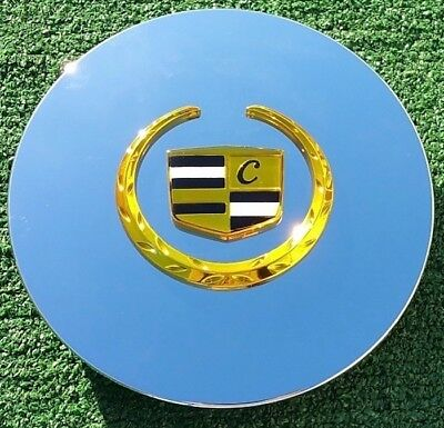 Chrome Gold Center Cap fits OEM Cadillac Deville Eldorado SLS DTS DHS Wheels