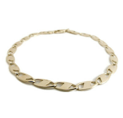 Italian Gucci Chain Link Bracelet in 14K Yellow Gold, 7.25 Inches, 4.12 Grams