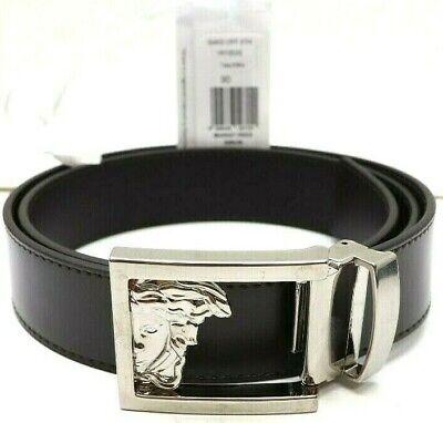 Versace Collection V91003S Men's Brown Leather Belt Adjustable Size 36 90/105
