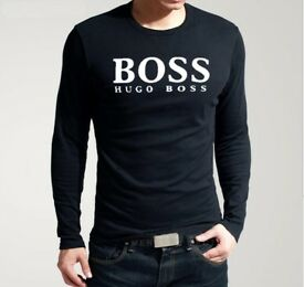WHOLESALE - VERY GOOD QUALITY MEN'S HUGO BOSS T-SHIRT ( LONG SLEEVES )