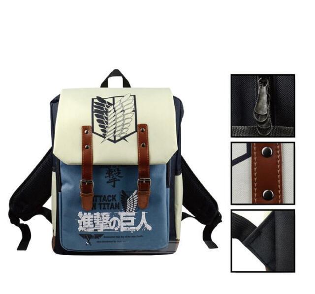 Attack On Titan Anime Shingeki no Kyojin Backpack Schoolbag Shoulder Bag Cosplay