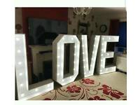 lED light up love sign 5ft