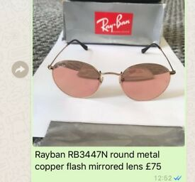 Rayban RB3447N mirrored copper flash