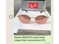 Rayban RB3447N mirrored copper flash