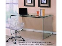 TEMPERED GLASS DESK COMPUTER TABLE