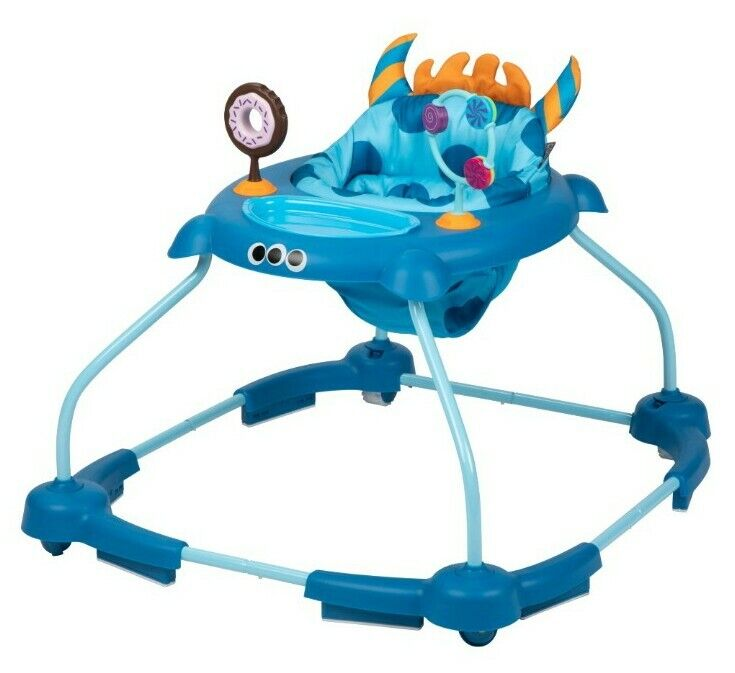 Cosco Simple Steps 2.0 Adjustable Baby Walker w/ Interactive Toys Monster Frank