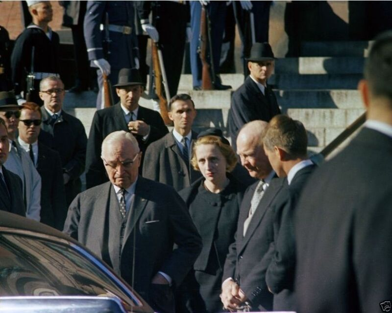 Presidents Truman and Eisenhower with RFK at JFK funeral New 8x10 Photo