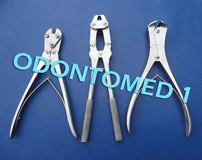 Set Of 3 Pcs Tc Wire Cutters Orthopedic Instruments