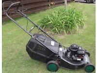 "Petrol lawnmower - Qualcast Trojan 18SP Self-propelled 18"" Starts Easy With Grass Box."