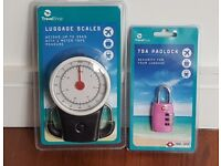 BRAND NEW (UNOPENED) LUGGAGE SCALES AND TSA LOCK - BARGAIN £3 FOR BOTH