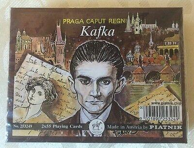 PLATNIK Playing Cards Boxed 2x55 card packs.KAFKA.Unopened.SEALED.Austria.