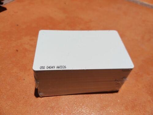 AWID Prox-Linc GR Proximity PVC Card, 26 bit format, pack of 50 cards