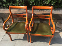 2 x Chairs in good condition . feel free to view £70 for matching pair.