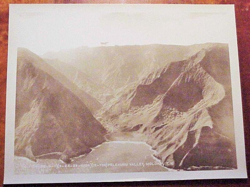 1929 Aerial Isolated Pelekunu Valley North Shore Molokai TH Hawaii