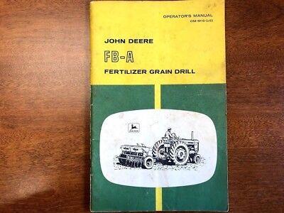 John Deere Fb-a Fertilizer Grain Drill Operators Manual 131