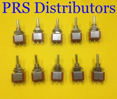 Mini Toggle Switch 3 Position Onoffon Spdt 6a 125v 10 Pieces