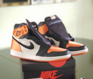 "Womens Air Jordan 1 High Satin ""Shattered Backboard"" US8.5 W"