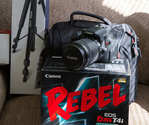Used Canon EOS Rebel T4i 18.0 MP Digital SLR with 18-135mm Lens
