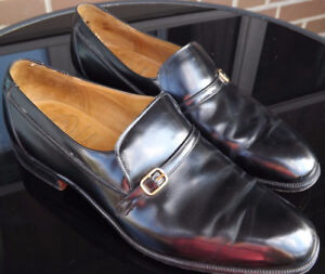 CHURCH'S CUSTOM GRADE Mens Loafer Gold Buckle Shoes Size 9.5