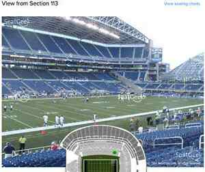 Seahawks Vs Panthers-Sec 113 Row T!