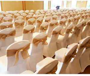 Beach themed wedding decor - chair sashes