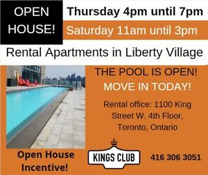 1 Bdrm + Den available at 1100 King Street West, Toronto