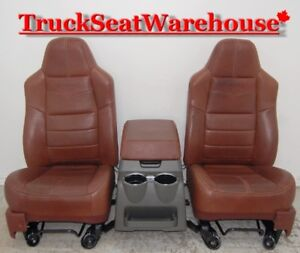 Ford Superduty F250 King Ranch Truck Seats and Console F350 F450