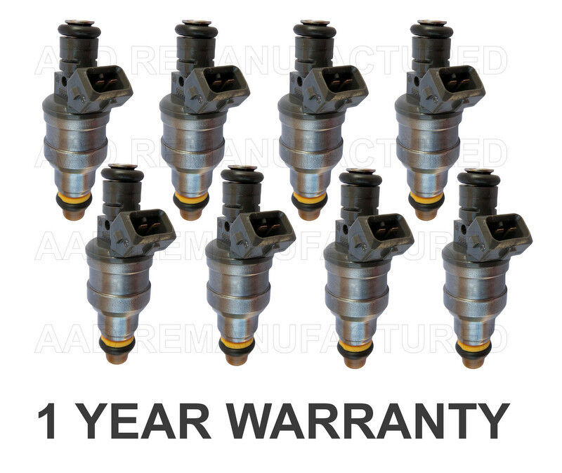 8x Fuel Injectors OEM Bosch 4-HOLE UPGRADED BMW 530i 540i 740i 740iL 840Ci
