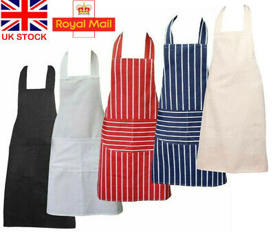 Chefs Apron 100% Fabric Kitchen Apron with Pockets Apron for Mens & Womens UK