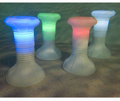 The Pool Stool LED Lighted Moveable Swim-Up Barstool For Swimming Pool Bar