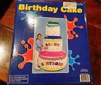"72"" Inflatable Birthday Cake. Never Used"