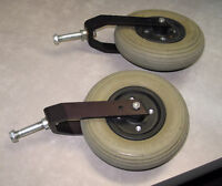 """WHEELCHAIR 8"""" CASTERS AND FORKS"""