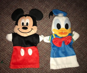 Mickey Mouse & Donald Duck Hand Puppets Melissa & Doug 10 Inch